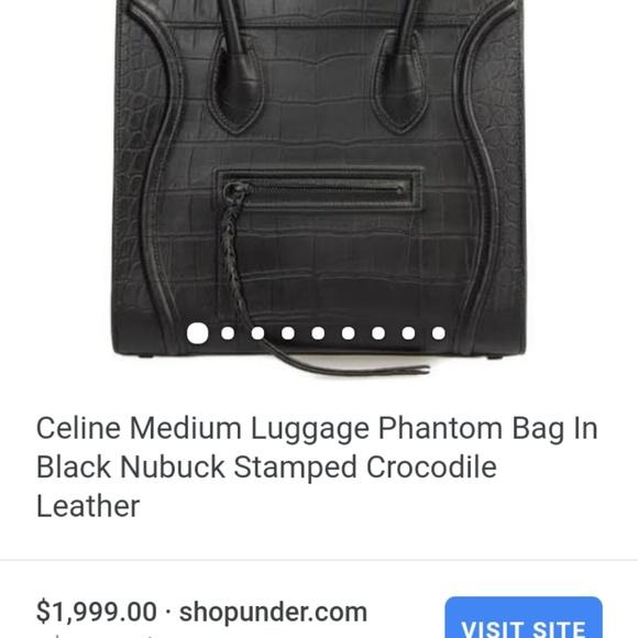 c85a3522c0fb Celine phantom handbag in crocodile leather